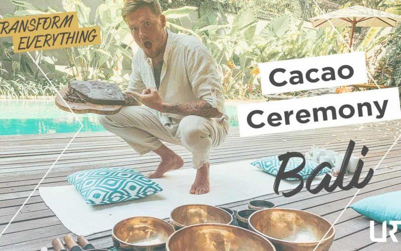 Drinking Cacao Plant Medicine in Bali