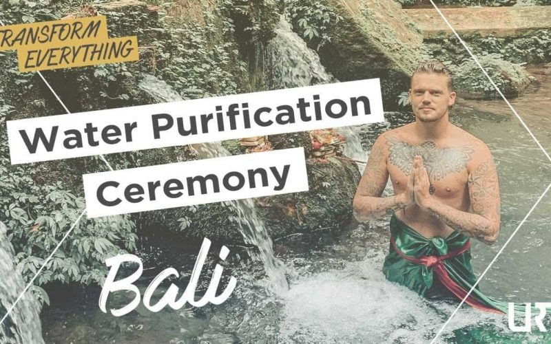 Water Purification Ceremony in Bali